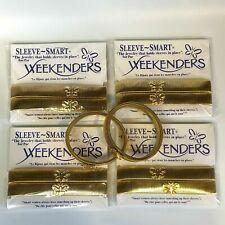 10 Weekenders Sleeve Smart Cuff Garter Band Holder Stretch Bracelets Gold Tone