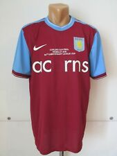 ASTON VILLA 2009/2010 HOME SPECIAL FOOTBALL SHIRT JERSEY CARLING CUP FINAL NIKE