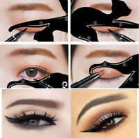2Pcs Women Cat Line Eye Makeup Tool Eyeliner Stencils Template Shaper Model