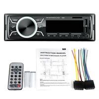 Car Stereo Audio Bluetooth In-Dash Fm Aux Input Receiver Tf 2 Usb Mp3 Player V1F