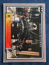 1992 Batman Returns DC Comics Card #30 The Vicious Stilt Walkers Crash To Ground