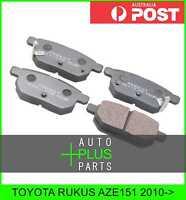 Fits TOYOTA RUKUS AZE151 Brake Pads Disc Brake (Rear)