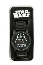 Star Wars Darth Vader Give Yourself To The Dark Side Metal Band Watch New In Tin