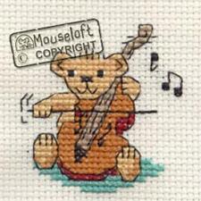Stitchlets Cross Stitch Kit - String Quartet Teddy