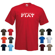 'My Other Car is a Fiat' Men's Car Funny Gift Birthday T-shirt