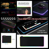 Large Gaming Mouse Pad Rgb Led Lighting Usb Mat For Computer Laptop Accessories