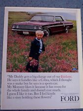 1964 FORD FAIRLANE 500 - VINTAGE AMERICANA  NEWSPAPER  AD. LUCKY STRIKE