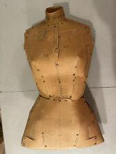 Vtg Perfect Fit Adjust O Matic Dress Form Cardboard Mannequin Sewing Tailor