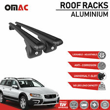 Roof Rack Cross Bars Luggage Carrier Black For Volvo XC70 2007-2016 with TUV