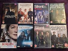 Sherlock 3 Black Mirror Borgen 3 Silent Witness 15 16 18 The Tunnel Suspects 1 2