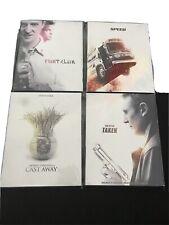 4 Blu-ray Fox Icon Slip Covers Fight Club Cast Away Speed Taken Lot