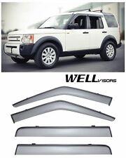 For 05-UP Land Rover LR3 LR4 WellVisors Side Window Visors W/ Black Trim