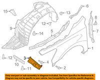 MAZDA OEM 09-13 6-Fender Stay Support Bracket Left GS3L52240