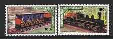 MALAGASY SG252/3 1973 EARLY RAILWAYS  FINE USED