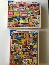 2 White Mountain USA Puzzle 1000 Pieces Drive In Movie & Snack Bar Collage