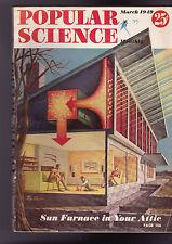 Popular Science Magazine Sun Furnace in Attic March 1949