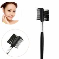 Fashion Cosmetic Black Eyebrow Eyelash Extension Makeup Tools Dual Comb Brush