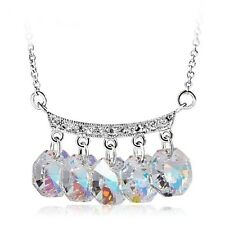 Fashion Statement Necklace Pendant Aurore Boreale - Made with Swarovski Crystals