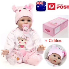 "22"" Realistic Reborn Baby Dolls Lifelike Handmade Newborn Silicone Girls Gift AU"