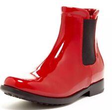 Aquatalia by Marvin K. Yen Red Rain Boots 5676 Size 37 EUR *