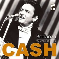 JOHNNY CASH - BONANZA-50 GREATEST HITS  2 CD NEU