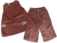 Barbara Farber Girls 2pcs Linen Set Dress with Pants size 104