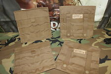4 POUCH SET OF EAGLE INDUSTRIES SPC COYOTE SIDE PLATE POCKET CARRIER SET SPP