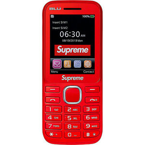 Supreme®/BLU Burner Phone Red Confirmed
