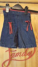baby girls dark blue wide legged jeans size 9 months