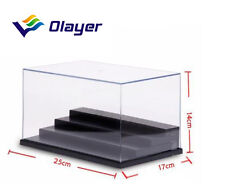4 Steps Clear UV Acrylic/Plastic Display Box Case Dustproof Tray Protection