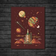 "DKNG Orion (16""x20"" Rocket/Galaxy/Outer Space Silkscreen Art Print/Poster)"