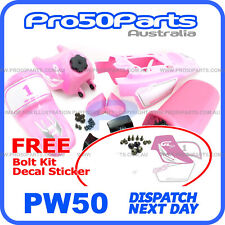 Pink Fender Cover + Fuel Tank + Pink Seat + Decal for Yamaha PW50 PY50 Peewee