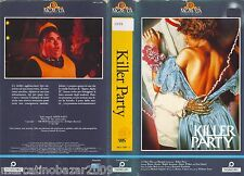 KILLER PARTY (1986) VHS ORIGINALE 1ª EDIZIONE 1987