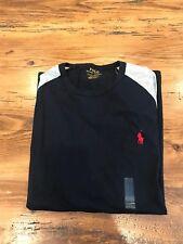 Men's Ralph Lauren Long Sleeve Baseball T-Shirt - Navy Blue Large