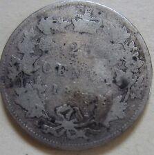 1883 Canada Silver Twenty-Five Cents Coin. (UJ37)