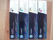 GENUINE SET 4 COLOR TONER HP CE310A CE311A CE312A CE313A LaserJet CP1025 126A NE