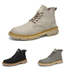Retro Mens High Top Biker Ankle Boots Shoes Chukka Outdoor Walking Sports Chic L
