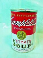 Rare Vintage CAMPBELLS TOMATO soup coin bank tin can 125TH ANNIVERSARY NICE BANK
