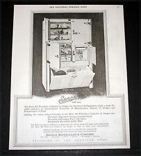 1927 OLD MAGAZINE PRINT AD, SEEGER MODEL 1419 REFRIGERATOR PORCELAIN CABINETS!