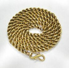 RARE! VINTAGE ANTIQUE SOLID 22K GOLD HANDMADE CHAIN NECKLACE RAJASTHAN INDIA