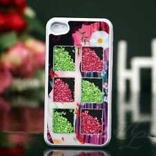 Apple iPhone 4 4s Hard Case Housse de protection pour téléphone portable étui Cover design strass