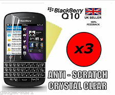 3x HQ CRYSTAL CLEAR SCREEN PROTECTOR COVER Pellicola LCD Guard per BlackBerry Q10