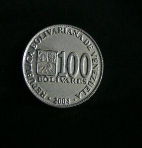 2004 100 Bolivares Venezuela World Coin South America Cornucopias Horse