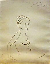 François Heaulmé encre originale signée expressionniste Paris