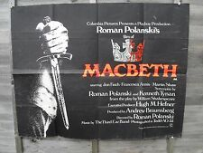 ORIGINAL 1971 ROMAN POLANSKI MACBETH FILM POSTER QUAD SIZE