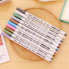 10x Metallic Pencil Set Marker Album Dauber Sketch Water Color Marker Brush Pen#