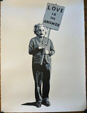 MR BRAINWASH - Love is the Answer 2008 Art Print black and white edition of 300