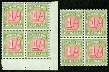 Australia : 1947. Stanley Gibbons #D128. 2 Blocks of 4. Vf, Mnh. Catalog £136.00