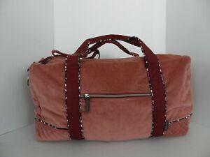 NWT Vera Bradley VBU Large Travel Duffel Travel Bag in Blush Fig Corduroy
