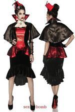 SEXY costume VAMPIRO abito+mantellina+guanti+gorgiera Carnevale Dark GLAMOUR !